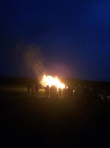 A team fireworks
